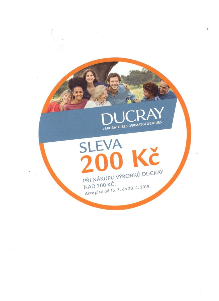 DUCRAY SLEVA 200,- Kč